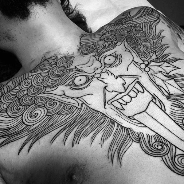 60 Krampus Tattoos für Männer - Dark Companion von St. Nicholas Design-Ideen