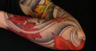 50 Herbst Tattoos für Männer - Autumn Ink Design-Ideen