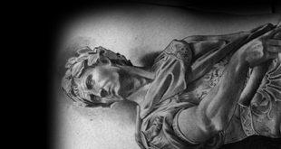60 römische Statue Tattoo Designs für Männer - Stein Tinte Ideen
