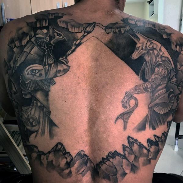 100 Anubis Tattoo Designs für Männer - ägyptische Hunde-Tinte-Ideen