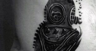 60 Taucherhelm Tattoo Designs für Männer - Deep Sea Ideen