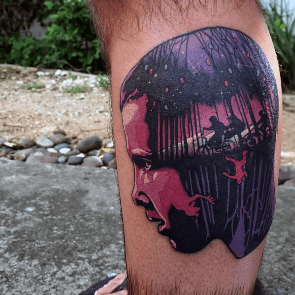50 Fremde Dinge Tattoo Designs für Männer - Science-Fiction-Ideen