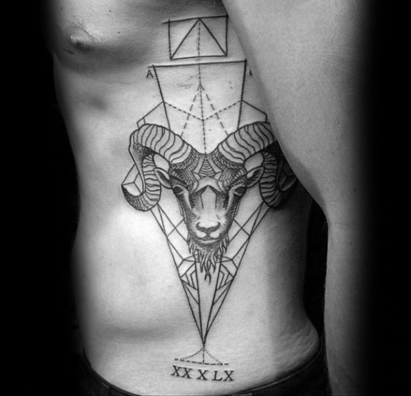 75 Widder Tattoos Fur Manner Zodiac Ink Design Ideen Mann Stil