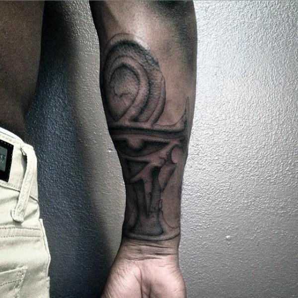 50 Ankh Tattoo Designs für Männer - Ancient Egyptian Hieroglyphics