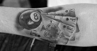 Top 40 besten 8 Ball Tattoo Designs für Männer - Billard Tinte Ideen