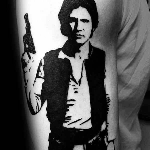 50 Han Solo Tattoo Designs für Männer - Star Wars Ideen