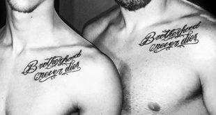 60 Brother Tattoos für Männer - Maskuline Design-Ideen