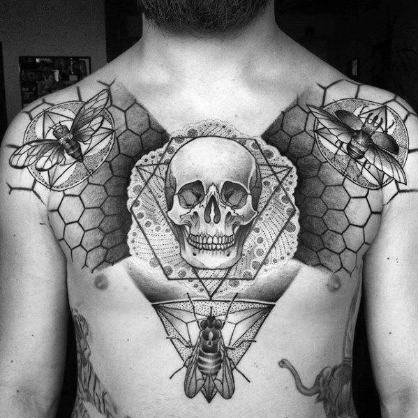 50 Fly Tattoo Designs für Männer - Insektentinte Ideen