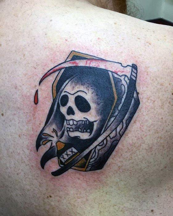 50 traditionelle Reaper Tattoo Designs für Männer - Grim Ink Ideen