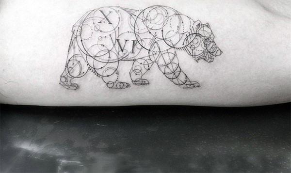 60 Geometrische Bär Tattoo Designs für Männer - Manly Ink Ideen