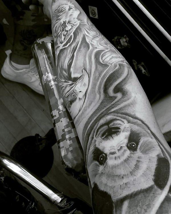 100 Panda Bär Tattoo Designs für Männer - Manly Ink Ideen