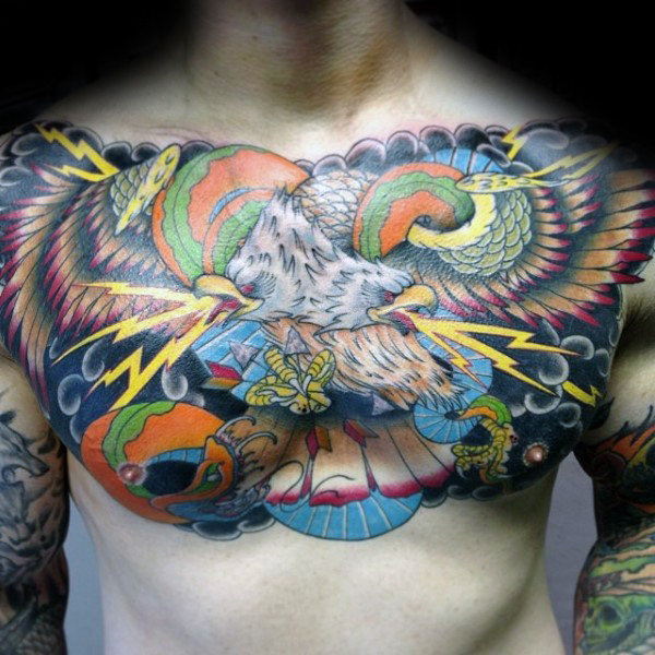 80 Eagle Chest Tattoo Designs für Männer - Manly Ink Ideen