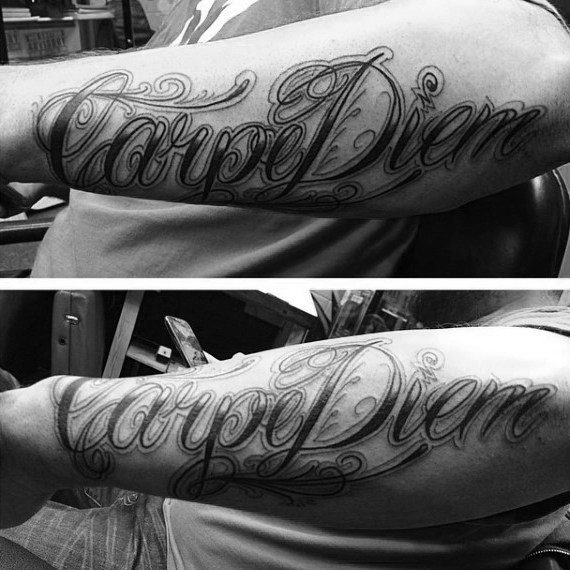 70 Carpe Diem Tattoo-Designs für Männer - nutzen Sie den Tag Tinte Ideen