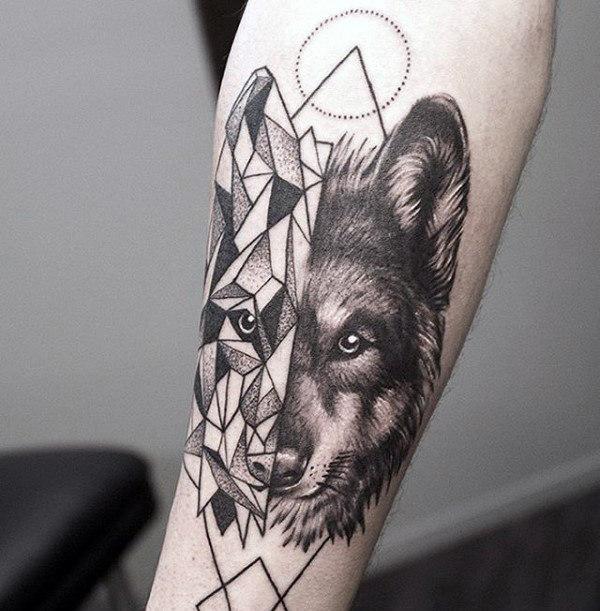 unterarm tattoo männer wolf