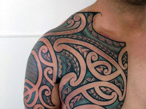 50 dünne blaue Linie Tattoo Designs für Männer - symbolische Tinte Ideen