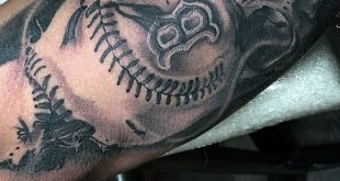 40 Baseball-Tattoos für Männer - ein Grand Slam of Manly Ideen