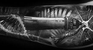 50 3D Leg Tattoo Designs für Männer - Manly Ink Ideen