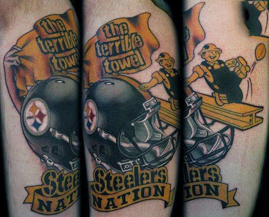 20 Pittsburgh Steelers Tattoo Designs für Männer - NFL-Tinte Ideen