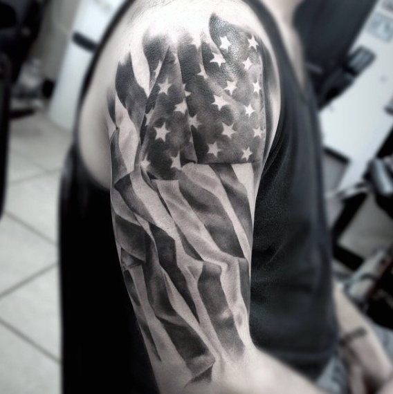 60 American Flag Tattoos für Männer - Designs mit einem Begriff der Freiheit