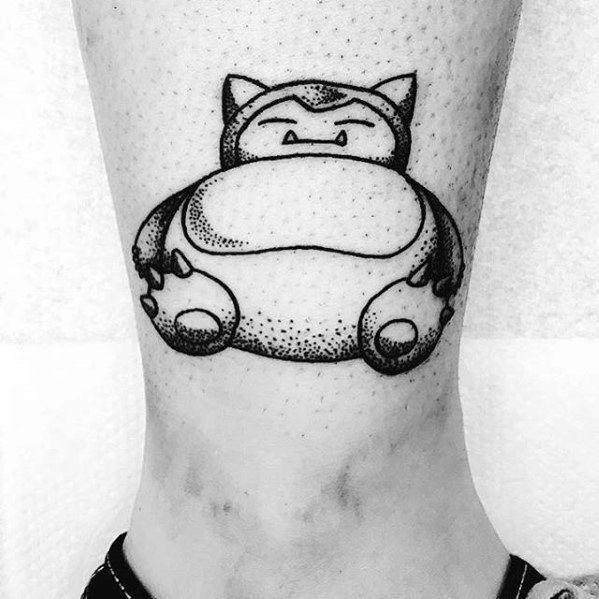 30 Snorlax Tattoo Designs für Männer - Pokemon Ink Ideen