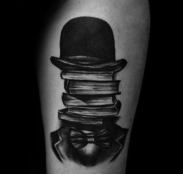 40 Top Hat Tattoo Designs für Männer - Topper Tinte Ideen