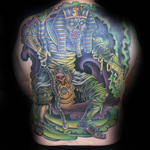 60 Mumie Tattoo Designs für Männer - Wrapped Egyptian Ink Ideas