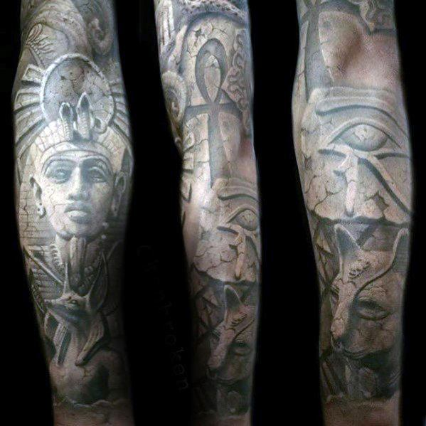 30 Hieroglyphen Tattoo Designs für Männer - Ancient Egyptian Ink Ideas