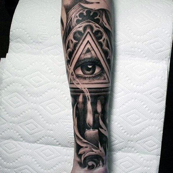 100 Eye Tattoo Designs für Männer - ein komplexer Look Closer