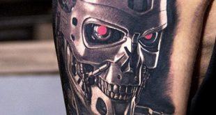 60 Terminator Tattoo Designs für Männer - Manly mechanische Tinte Ideen