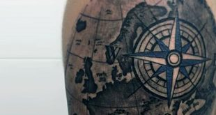 70 Kompass Tattoo Designs für Männer - eine Erkundung der Ideen