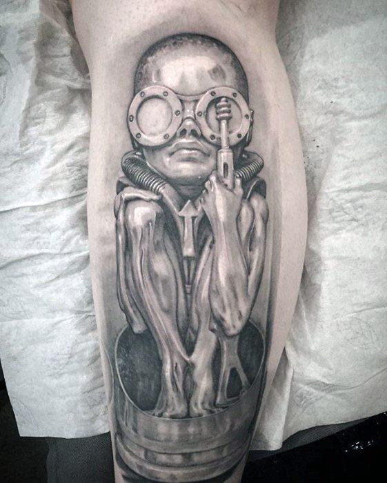 50 Stunden Giger Tattoo Designs für Männer - Swiss Painter Ink Ideen