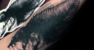 50 Fisch Skelett Tattoo Designs für Männer - X-Ray Ink Ideen