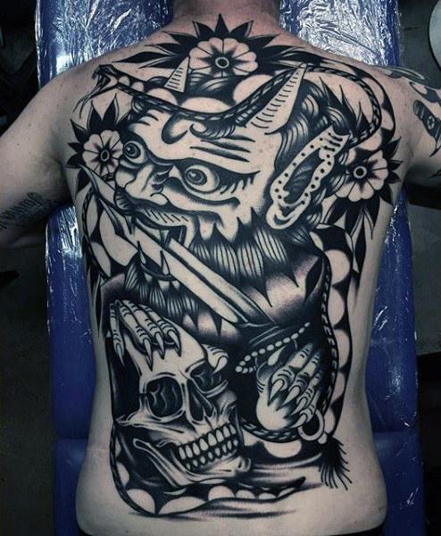 50 traditionelle Schädel Tattoo Designs für Männer - Manly Ink Ideen