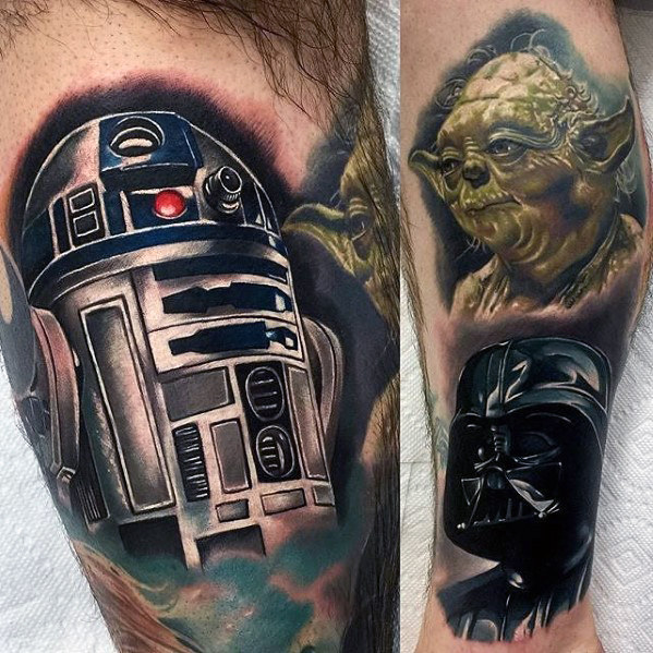 60 Yoda Tattoo Designs Für Männer Jedi Master Ink Ideen Mann