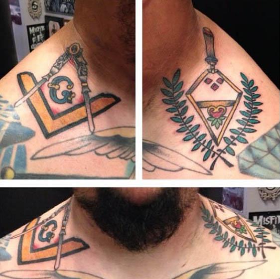 90 Freimaurer Tattoos für Männer - Freimaurerei Tinte Designs