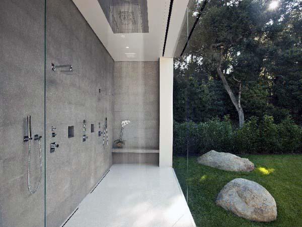 Top 60 beste Outdoor-Dusche Ideen - Gehäuse-Designs