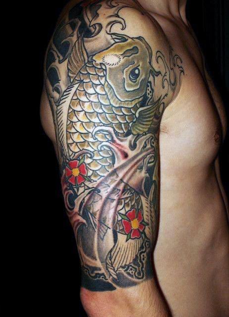 50 Koi Fisch-Tätowierungs-Entwürfe für Männer - ein japanisches Symbol der Männlichkeit