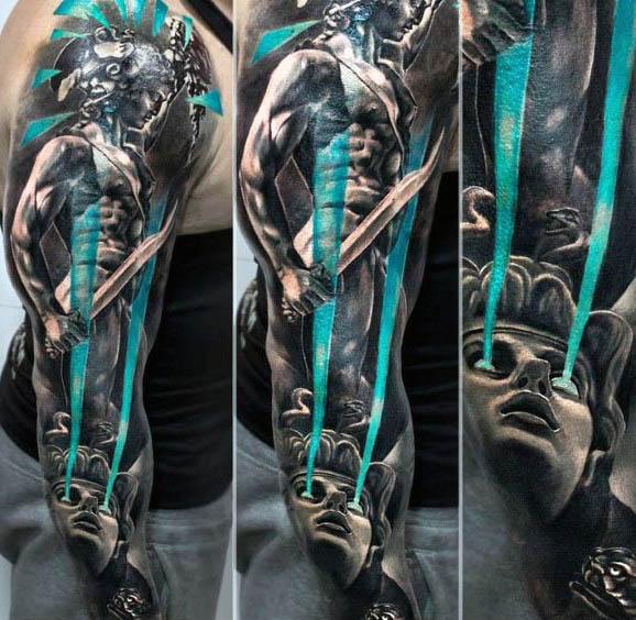 80 Medusa Tattoo Designs für Männer - Schlangen zu Stein