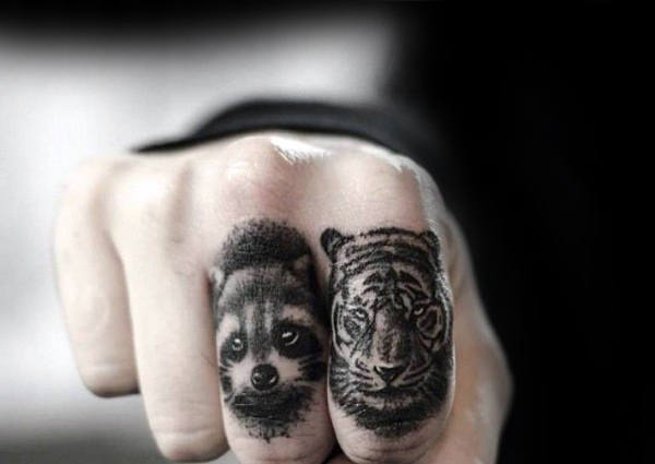 80 Waschbär Tattoo Designs für Männer - Critter Ink Ideas