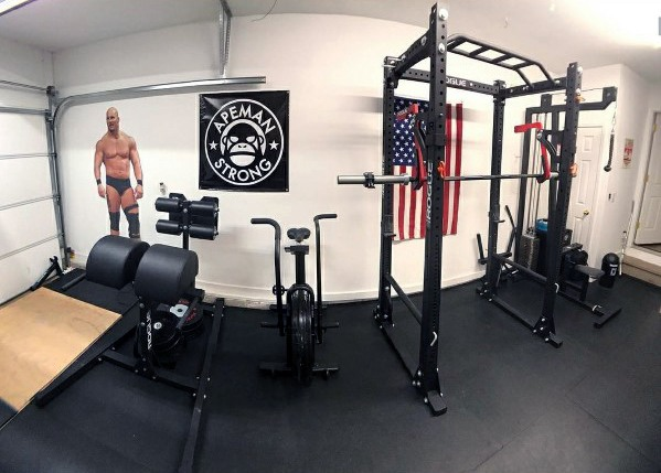 Top 75 Besten Garage Gym Ideen Home Fitness Center Designs Mann