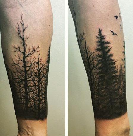 75 Tree Sleeve Tattoo Designs für Männer - Tinte Ideen mit Niederlassungen