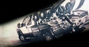 60 Truck Tattoos für Männer - Vintage und Big Rig Ink Design-Ideen