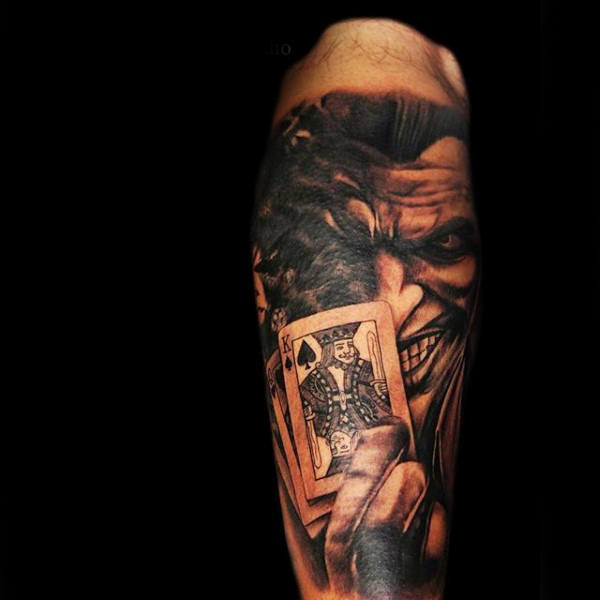 90 Spielkarte Tattoos für Männer - Lucky Design-Ideen