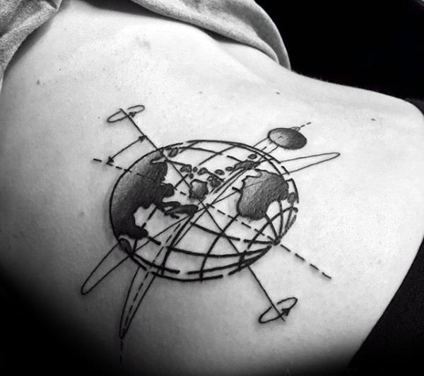 80 Globe Tattoo Designs für Männer - Traveller Ink Ideen