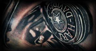 90 Harley Davidson Tattoos für Männer - männliche Motorrad-Designs