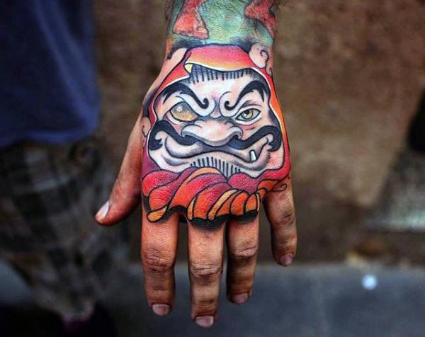 60 Daruma Puppe Tattoo Designs für Männer - japanische Tinte Ideen