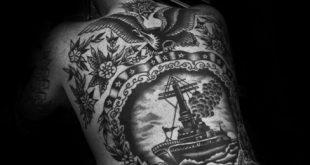 60 Vintage Tattoos für Männer - Old School Design-Ideen