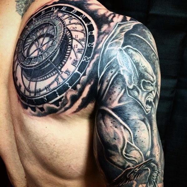 70 Gargoyle Tattoo Designs für Männer - Steinstatue Ideen
