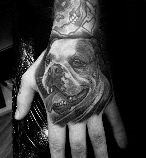 60 Bulldog Tattoos für Männer - Maskuline Design-Ideen