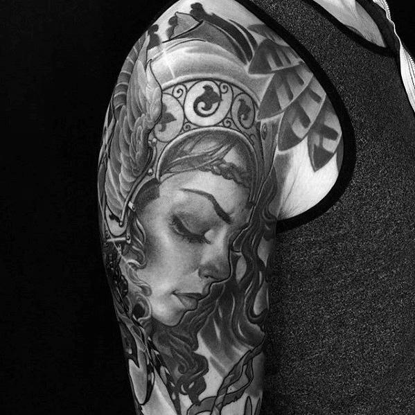 41ce7612bef5c 60 Valkyrie Tattoo Designs für Männer - nordischen Mythologie Tinte Ideen